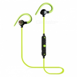 AWEI A620BL Sports Wireless Bluetooth Magnetic In-Ear Earphone with Microphone - Green