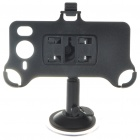 Plastic Car Swivel Mount Holder with Suction Cup &amp; Car Charger for HTC HD7 - Black
