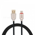 3.4A Quick Charge USB 3.1 Type-C Charging / Data Transfer Cable for Samsung Galaxy S9 / S9 Plus / S8 / S8 Plus - Black