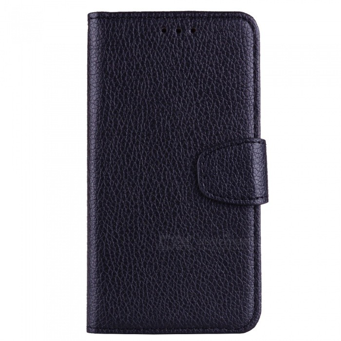 Dayspirit Lichee Pattern Leather Case for Samsung Galaxy A8 (2018), A530 , A8 (2018) Duos - Black