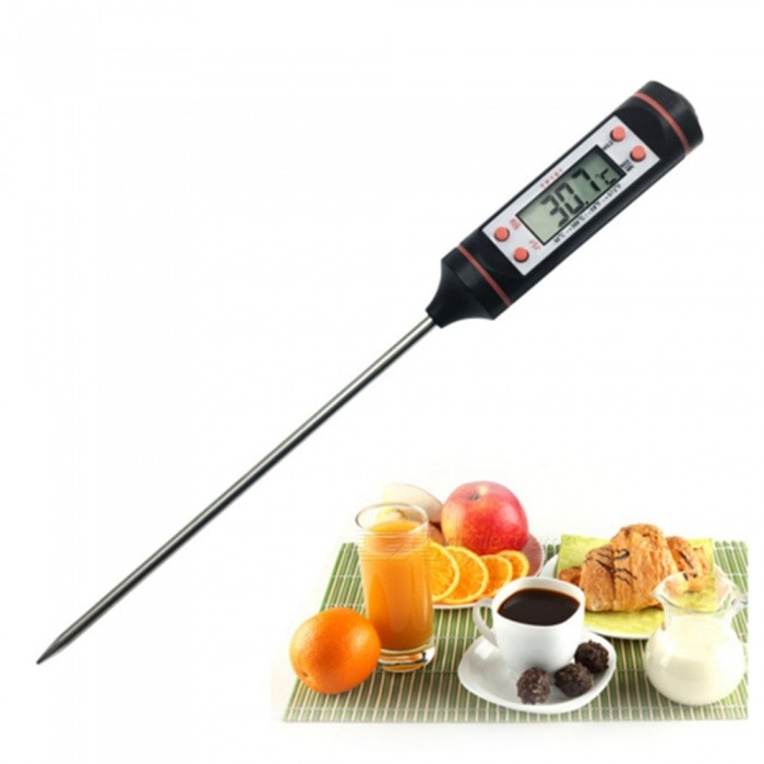 KICCY Digital Meat Temperature Stainless Steel ProbeเธƒเธŒ BBQ Barbecue Food Thermometer