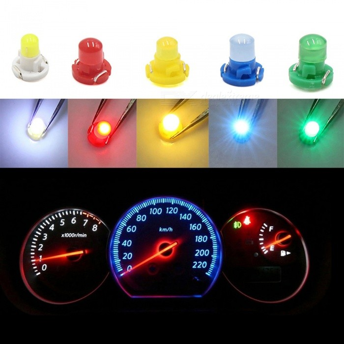 10PCS T4.2 Yellow LED Dashboard Panel Gauge Light Lamp Bulb for Car Interior