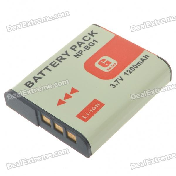 NP-BG1/FG1 Compatible 3.7V 1200mAh Battery Pack for Sony DSC-W30 + More np bg1 replacement battery for sony dsc n1 n2 n20 dsc h3 dsc h3 b dsc h7 dsc h7 b dsc h9 more