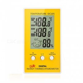 ESAMACT LCD Digital Thermometer Hygrometer, Table Clock, Temperature Humidity Measurement Temperature Weather Station