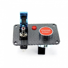 S3402-Z Carbon Fiber 2-Group Toggle Switch Panel w/ Indicator Light for Car Modified Use