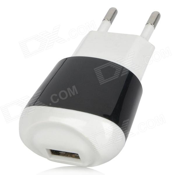 EU Plug USB Power Adapter Charger for IPAD, IPHONE 4 - Black + White