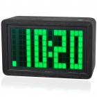 Green LED Backlit Digital Clock with Calculator/Calendar/Temperature/Alarm (4*AA)