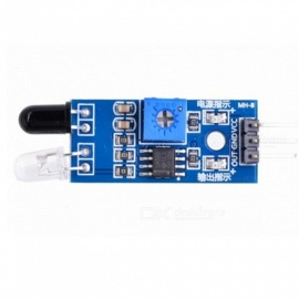 Produino Smart Car Infrared Obstacle Avoidance Sensor - Black + Blue