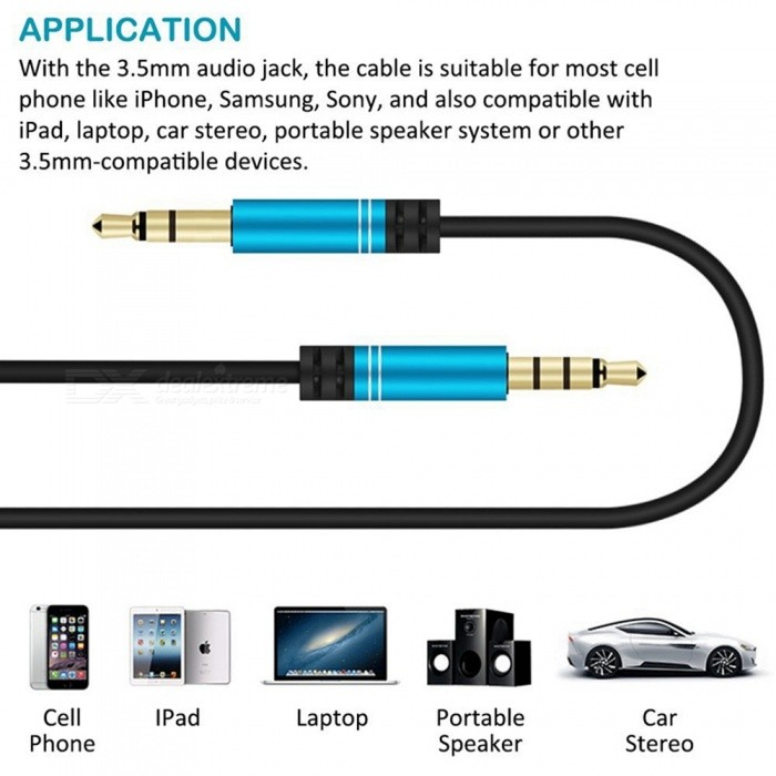 miimall 3 5mm aux cable with audio y splitter adapter 3