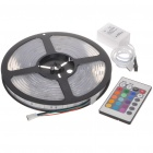30W Waterproof 150x5050 SMD LED Colorful Light Strip with Remote Controller (5-Meter/DC 12V)