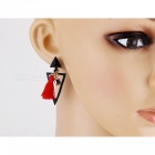 Bohemia Style Exaggerated Tassel Earrings for Women - Black (Pair)