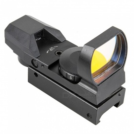 ACCU Tactical 4-Reticle Red Dot Sight Scope with Gun Mount - Black (1 x CR2032)