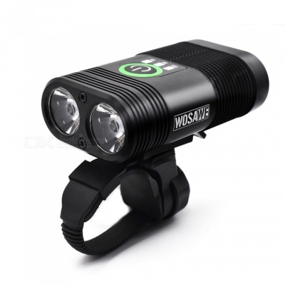 WOSAWE Portable Waterproof Quick Release Li-polymer 2400lm Lumens Dual LED Cycling Bike Light
