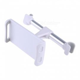 ABS Car Seat Headrest Rear Pillow Holder Stand for Cell Phone, Tablet - Silver