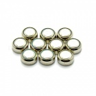 10PCS Flat Top Ni-MH AG3 Cell Button Batteries for Night Light, RC Toy and More - Silver