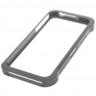 Stylish Protective Aluminum Case Bumper for iPhone 4 - Silver Grey