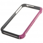 Stylish Protective Aluminum Case Bumper for iPhone 4 - Rose Red