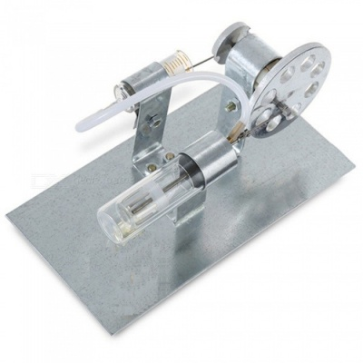 Maikou Stirling DIY Thermal Power Stirling Engine Educational Toy - Silver Grey