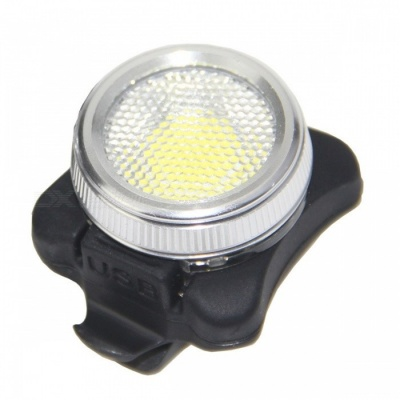 Red -White Light 5-Mode Waterproof USB Rechargeable COB LED Taillight