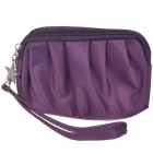 Stylish Waterproof Make-up/Cosmetic Handbag with Strap (Purple)