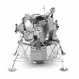 X-Man-Design DIY 3D Laser Cut Metal Model Kits Puzzle Apollo Lunar Lander Model Assembled Educational Toy - Silver