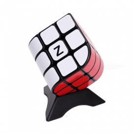 qiyi ZCUBE penrose cube 3x3x3 speed gladde magic cube vinger puzzel toy 56mm - zwart