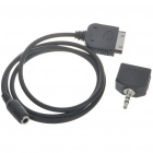 iPhone/iPad/iPod 30-Pin to 3.5mm Audio Adapter Cable + 3.5mm Male to Dual Female Audio Split Adapter