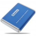 3000mAh Rechargeable External Battery Pack with Cellphone Adapters (Blue)