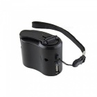 OJADE Dynamo Hand Crank USB Cell Phone Emergency Charger - Black
