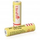 UltraFire BRC 18650 3.7V 3600mAh Rechargeable Lithium Batteries - Yellow (2-Battery Pack)