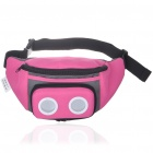 Outdoor Waist Bag with MP3 Music Speaker - Rose Red + Black (3*AAA)