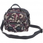 Outdoor Handbag & OneShoulder Bag with MP3 Music Speaker - Camouflage Green (3*AAA)