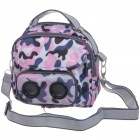 Outdoor Handbag & OneShoulder Bag with MP3 Music Speaker - Camouflage Pink (3*AAA)