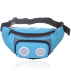 Outdoor Waist Bag with MP3 Music Speaker - Blue + Black (3*AAA)