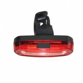 100LM USB Rechargeable COB LED Mountain Bike MTB Safety Tail Light - Red and Blue Light