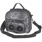 Outdoor Handbag & OneShoulder Bag with MP3 Music Speaker - White Tiger Stripe (3*AAA)