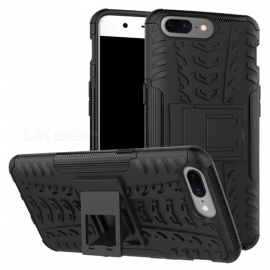3D Relief Emboss Phone Cover Back Case for OnePlus 5 - Black