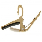 Stainless Steel Guitar Capo for 6-String Guitar - Gold