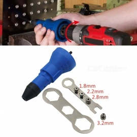 ESAMACT Electric Rivet Nut Gun Riveting Tool, Cordless Riveting Drill Adapter Insert Nut Tool - Blue