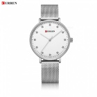 CURREN 9023 Women's Stylish Quartz Watch Water Resistant Wrist Watch - Silver