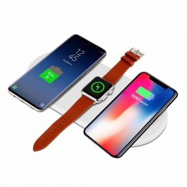 SPO 7.5W Qi Fast Wireless Charging Charger for Smartphone, Smart Watch - White