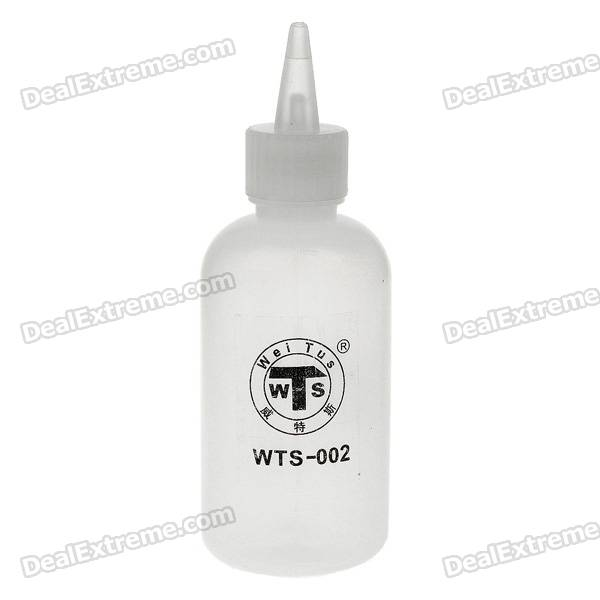 Alcohol and Liquid Container Dispensing Bottle w/ Funnel and Needle - White (100ml) hangsen menthol flavor e liquid 100ml