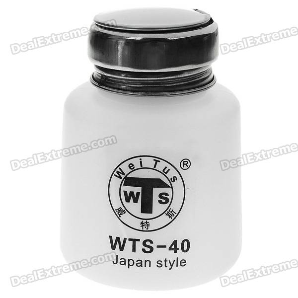 Alcohol and Liquid Container Bottle - White (100ml) hangsen menthol flavor e liquid 100ml