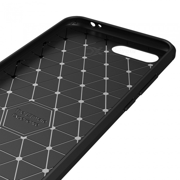 Dayspirit Wire Drawing Carbon Fiber TPU Back Case For