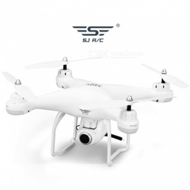 SJRC S20W WiFi FPV Quadcopter with 720P HD Camera Double GPS Follow Me Mode RC Quadcopter RTF - White
