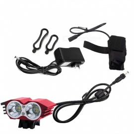 ZHAOYAO M2 T6 2-LED Owl Head Shape Super Bright Rechargeable Mountain Bike Headlight (US Plug)
