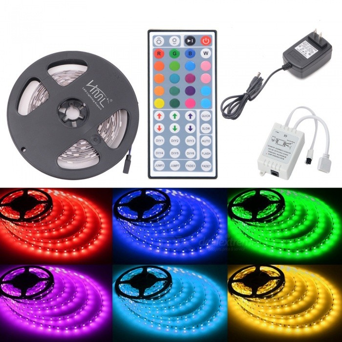 HML 72W 150-5050 RGB LED Strip Light with 44-key IR Remote Controller + US Plug Power Adapter
