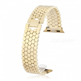 Scale Pattern Stainless Steel Watch Strap for Apple iWatch 38mm - Golden