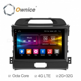 "ownice octa-core 9"" android 6.0 leitor de DVD do carro para KIA sportage R 2010-2016"
