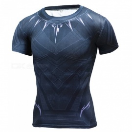 Outdoor 3D Short Sleeves Sports Tights T-shirt for Men (XXXL)